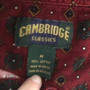 Vintage Tops - Cambridge Classics   Retro Distressed Burton Down